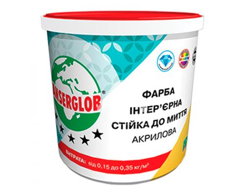 Краска Anserglob акриловая интерьерная стойкая к мытью 7,5 кг