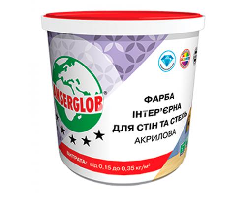 Краска Anserglob акриловая, для стен и потолка 15кг